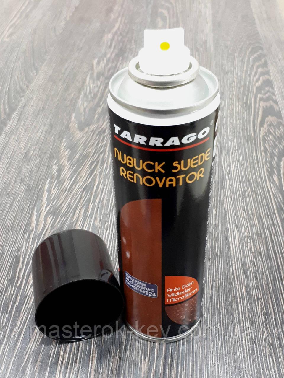 Відновлююча спрей-фарба Tarrago Nubuck Suede Renovator 250 мл колір фіолетовий (124)