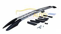 Рейлинги Fiat Scudo 2015-  длинная база хром,пластиковые наконечники ABS