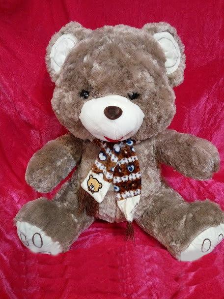 Коричневый плюшевый Мишка 48 см мягкая игрушка подарок на 8 марта день рождения