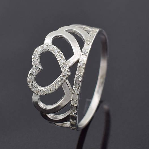 "Серебряное кольцо ""Корона №5"", размер 21.5, вес серебра 2.26 г"