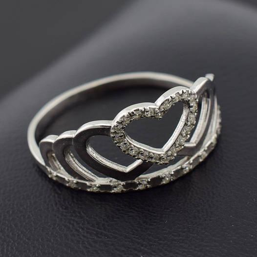 "Серебряное кольцо ""Корона №5"", размер 23, вес серебра 2.26 г"