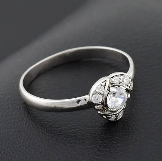 """Серебряное кольцо """"Лаватера"""", размер 17, вес серебра 1.49 г"""