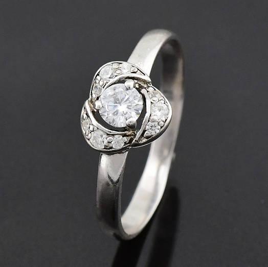 """Серебряное кольцо """"Лаватера"""", размер 17.5, вес серебра 1.49 г"""