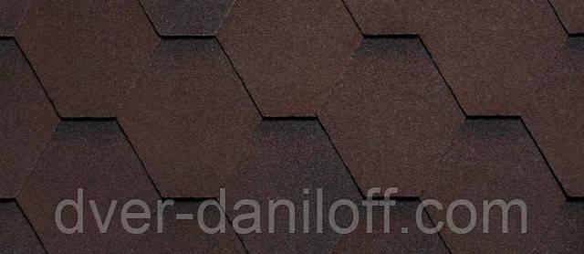 Битумная черепица RUFLEX (производство RUFLEX) - Темный шоколад