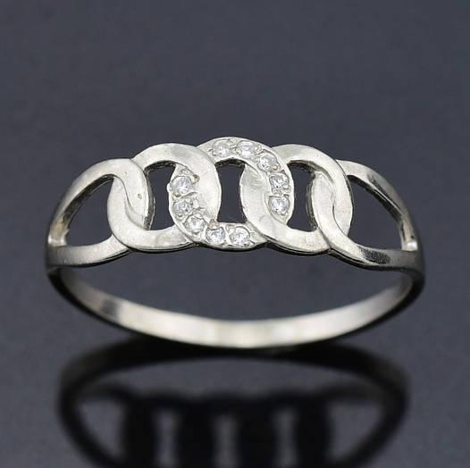 "Серебряное кольцо ""Цепочка"", размер 19, вес серебра 1.11 г"