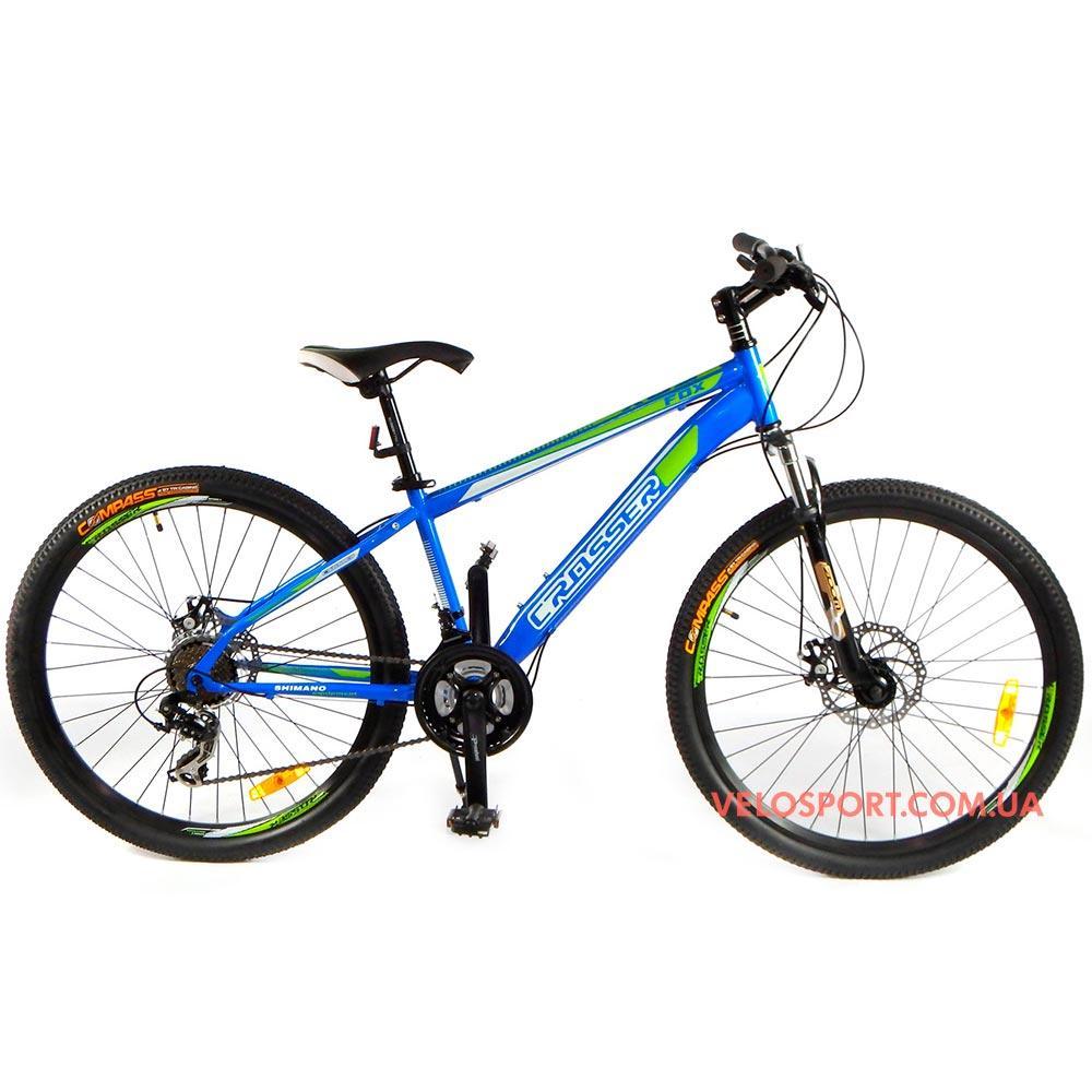 Горный велосипед Crosser Fox 26 дюймов синий