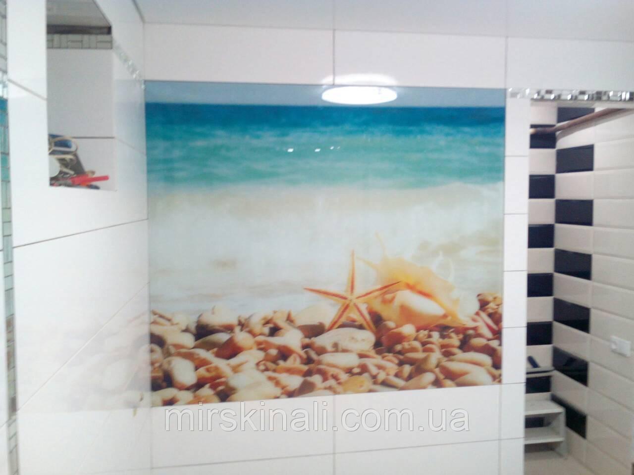 """Скинали - Фото-панно в ванную """"Ракушка"""""""