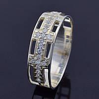 """Серебряное кольцо """"Натали"""", вставка белые фианиты, вес 2.4 г, размер 19"""