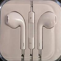 Наушники  iPhone i5 с регулятором громкости(копия)