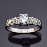 """Серебряное кольцо """"Вдохновение"""", размер 19, вес серебра 1.96 г"""
