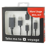 Full HD 1080P Micro USB MHL + USB Connector to HDMI Adapter HDTV