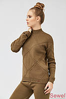 Женский вязаный зимний свитер