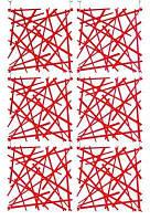 Декоративная Панель Stixx красный