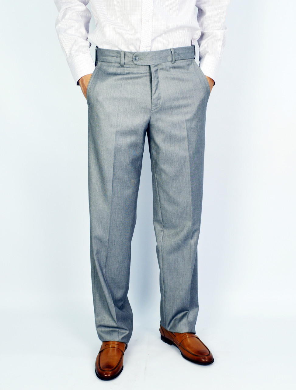 Светло-серые мужские брюки классические VIK VLADIS