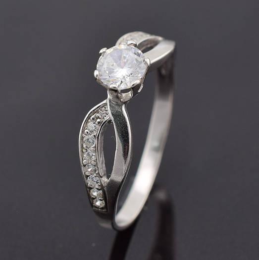 """Серебряное кольцо """"Нежность"""", размер 19, вес серебра 1.79 г"""