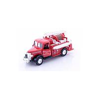 Машинка металлическая goki Пожарная ретро машина бочка 12057G-2