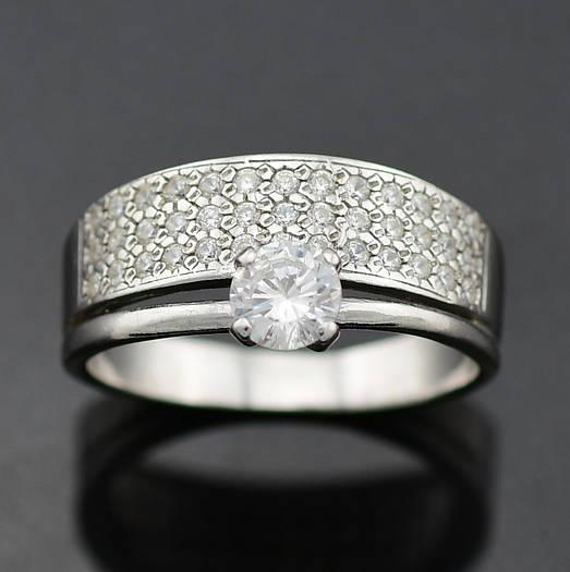 """Серебряное кольцо """"Пассаж двойной"""", размер 22.5, вес серебра 3.18 г"""
