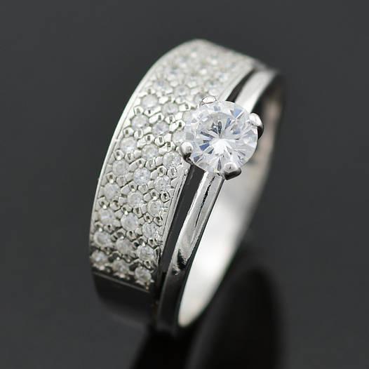 """Серебряное кольцо """"Пассаж двойной"""", размер 21, вес серебра 3.18 г"""