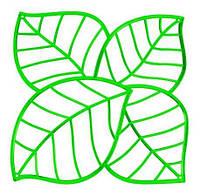 Декоративна панель Leaf зелений