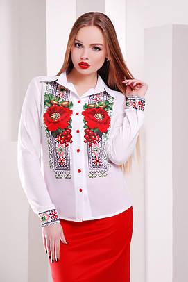 блуза GLEM Вышивка-маки блуза Верина-2 д/р