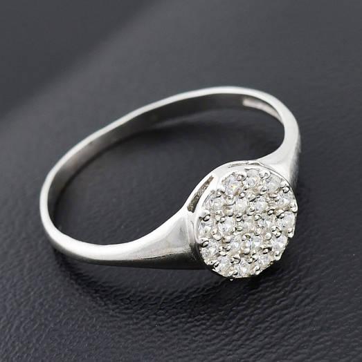 """Серебряное кольцо """"Россыпь диамантов"""", размер 19, вес серебра 1.86 г"""