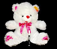 Игрушки для детей Мишка 42 см с бантиком плюшевый Медведь с розовым бантом