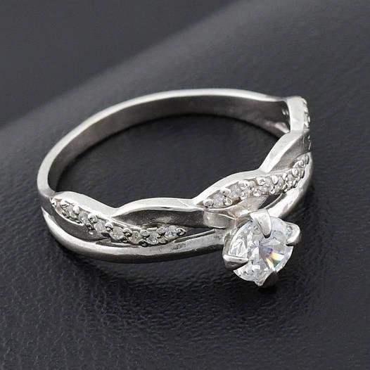 "Серебряное кольцо ""Сабрина"", размер 19, вес серебра 2.41 г"
