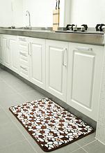 Плюшевый коврик «Камешки» светлый кофе 50×80 см