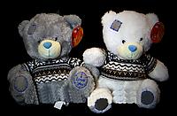 Стильная мягкая игрушка Мишка 20 см плюшевый маленький медведь в футболке