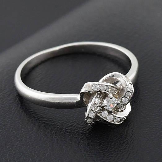 """Серебряное кольцо """"Элизабет"""", размер 17, вес серебра 1.92 г"""
