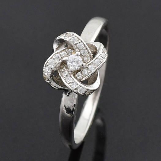 """Серебряное кольцо """"Элизабет"""", размер 18, вес серебра 1.92 г"""