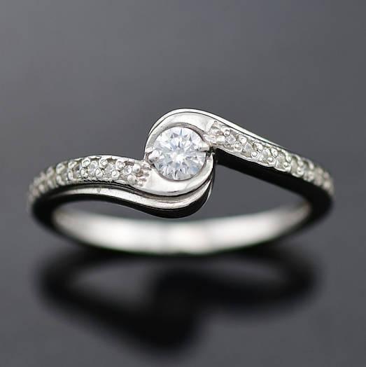 """Серебряное кольцо """"Есения"""", размер 19, вес серебра 1.90 г"""