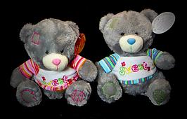 Плюшевый маленький Мишка 20 см в футболке детские мягкие игрушки качественные