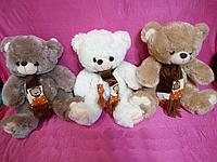 Мягкая детская игрушка Мишка 38 см в шарфе хороший подарок на любой праздник