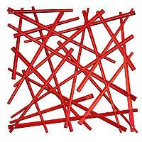 Декоративная Панель Stixx 4 шт. красный прозрачный