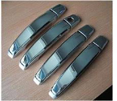 Автомобильные накладки ручек на авто Ssang Yong Rodius 2008+ (4 шт, нерж)