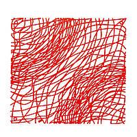 Декоративная Панель Silk 4 шт. красный прозрачный