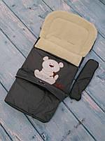 Конверт в коляску/санки на овчине для малышей