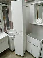 Пенал для ванной комнаты напольный 35 см