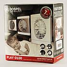 Бесшумный вытяжной вентилятор для кухни бытовой осевой Dospel PLAY MODERN 100 S 007-3607, фото 2