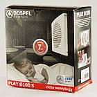 Бесшумный вытяжной вентилятор бытовой осевой Dospel PLAY SATIN 100 S 007-3611, фото 2