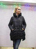 Женская зимняя куртка,р. 2XL черного цвета,наполнитель-холлофайбер