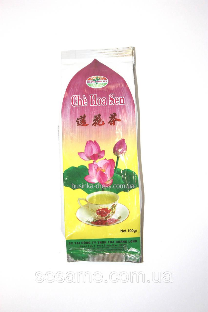 Вьетнамский Зеленый час с лотосом CHE HOA SEN 100г