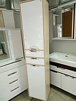 Пенал для ванной комнаты напольный 40 см Венге светлый