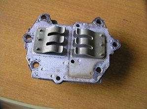 Plate two holes Valve Reed set - 66T-W0004-00