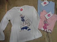 Хлопковая кофта для девочки. Размеры 98,104,110,116,122,128