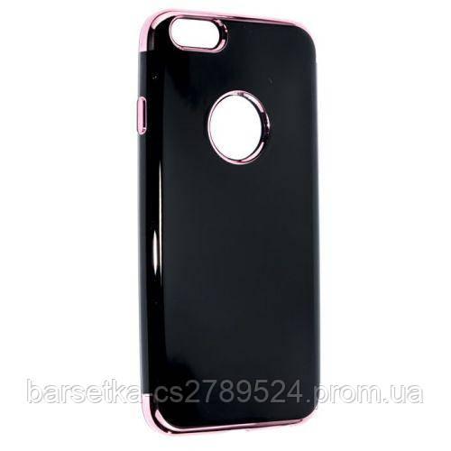 Чехол накладка Bezel Black для Apple iPhone 6/6S, розовый