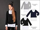Кофта-рубашка трикотаж шерсть, цвет черный ТМ Моне р.134, 140, 146, 164, фото 5