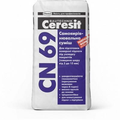 Cмесь самовыравнивающаяся Ceresit CN 69, 25 кг