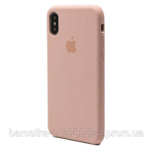Чехол-накладка Apple Original Silicone для Apple iPhone X, pink sand